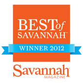 Voted Best Of Savannah for 8 Years!