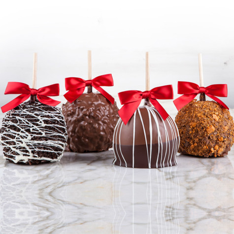 Assorted Chocolate Apples, 4 Pack