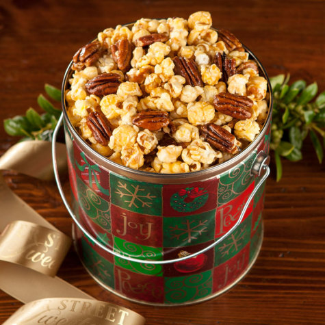 Nutty Caramel Popcorn Holiday Pail