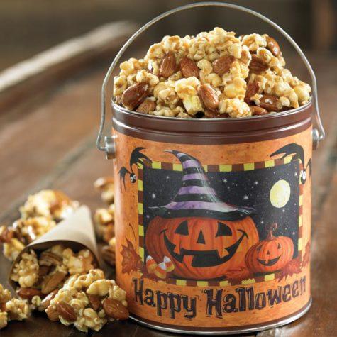 Halloween Caramel Nut Popcorn Tin