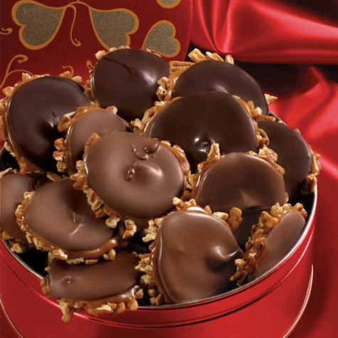 Valentine Tin of Milk & Dark Chocolate Bear Claws