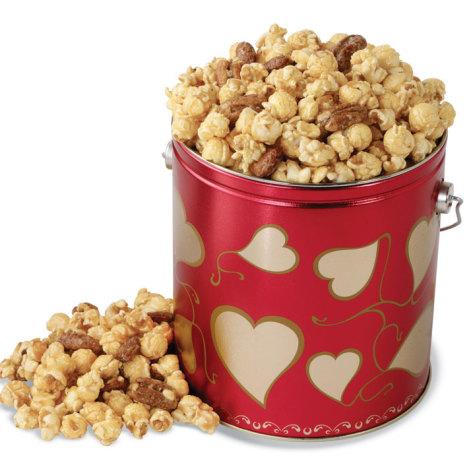 Valentine's Day Caramel Nut Popcorn