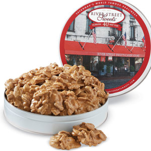 Pecan Pralines in River Street Sweets Tin
