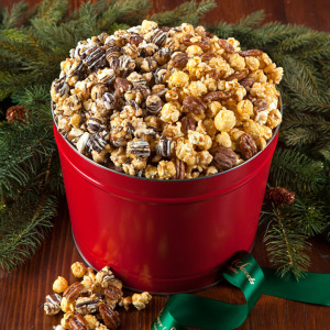 Caramel Nut and Chocolate Drizzled Popcorn combo