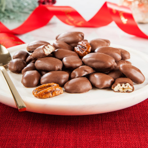 Chocolate Covered Glazed Pecans