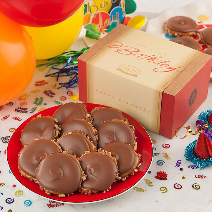 Birthday Box of Milk Chocolate Bear Claws
