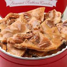 Pecan Brittle Signature Tin - Pecan Brittle 16oz Tin