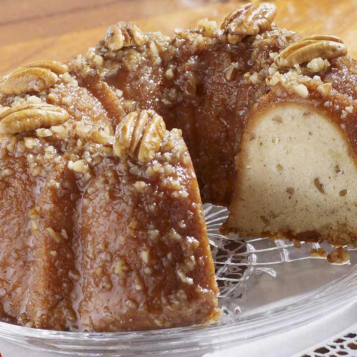 Pecan Roll Cake With Praline Mousse Recipe — Dishmaps