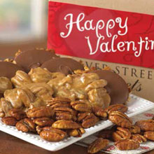 Valentine Assortment Box of Pralines, Bear Claws and Glazed Pecans
